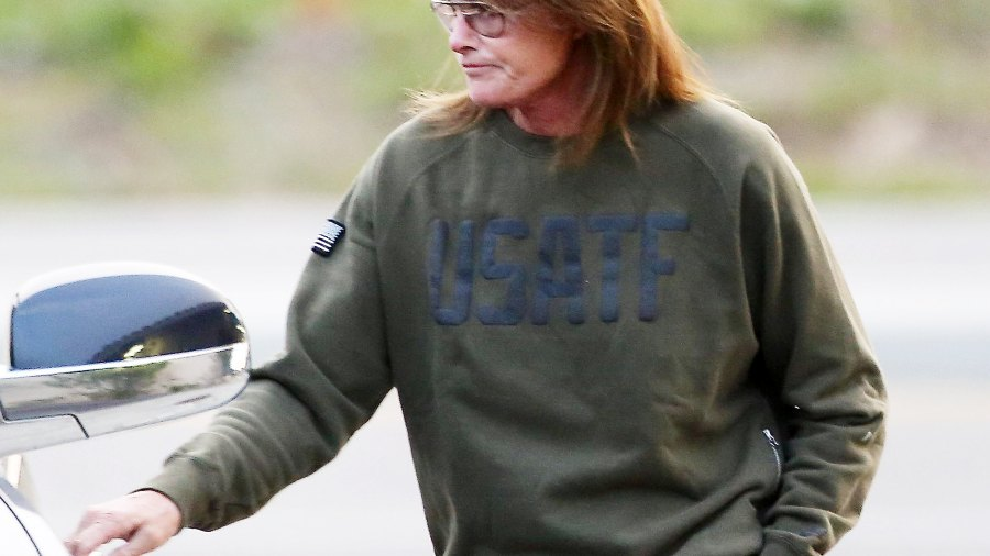 Bruce Jenner with his hair down on January 7, 2015