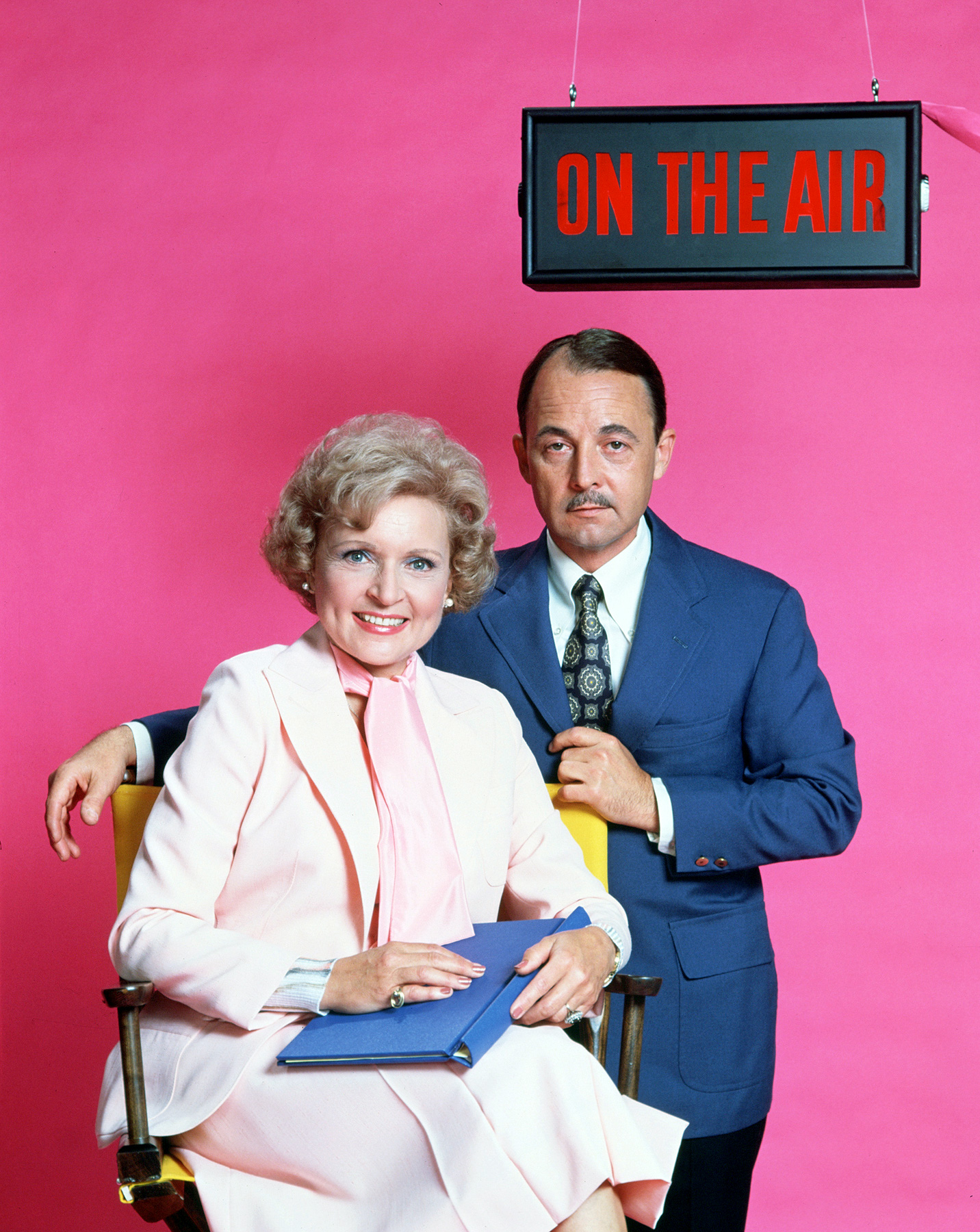 "Following her role on The Mary Tyler Moore Show , White snagged her own sitcom, The Betty White Show , with costars John Hillerman (pictured) and Georgia Engel, which ran for one season in 1977. ""When I started with The Betty White Show , I was on live five and a half hours a day, six days a week, no script, just blithering on…like some people do now,"" White told Craig Ferguson in March 2014."