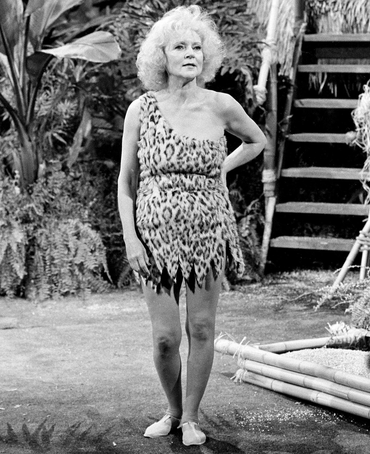 "A longtime pal of Johnny Carson, White appeared on numerous sketches on The Tonight Show , pictured here in the ""Tarzan and the Apes"" skit in August 1981. ""The randiness is always done with a sense of humor,"" White told Katie Couric in May 2011."