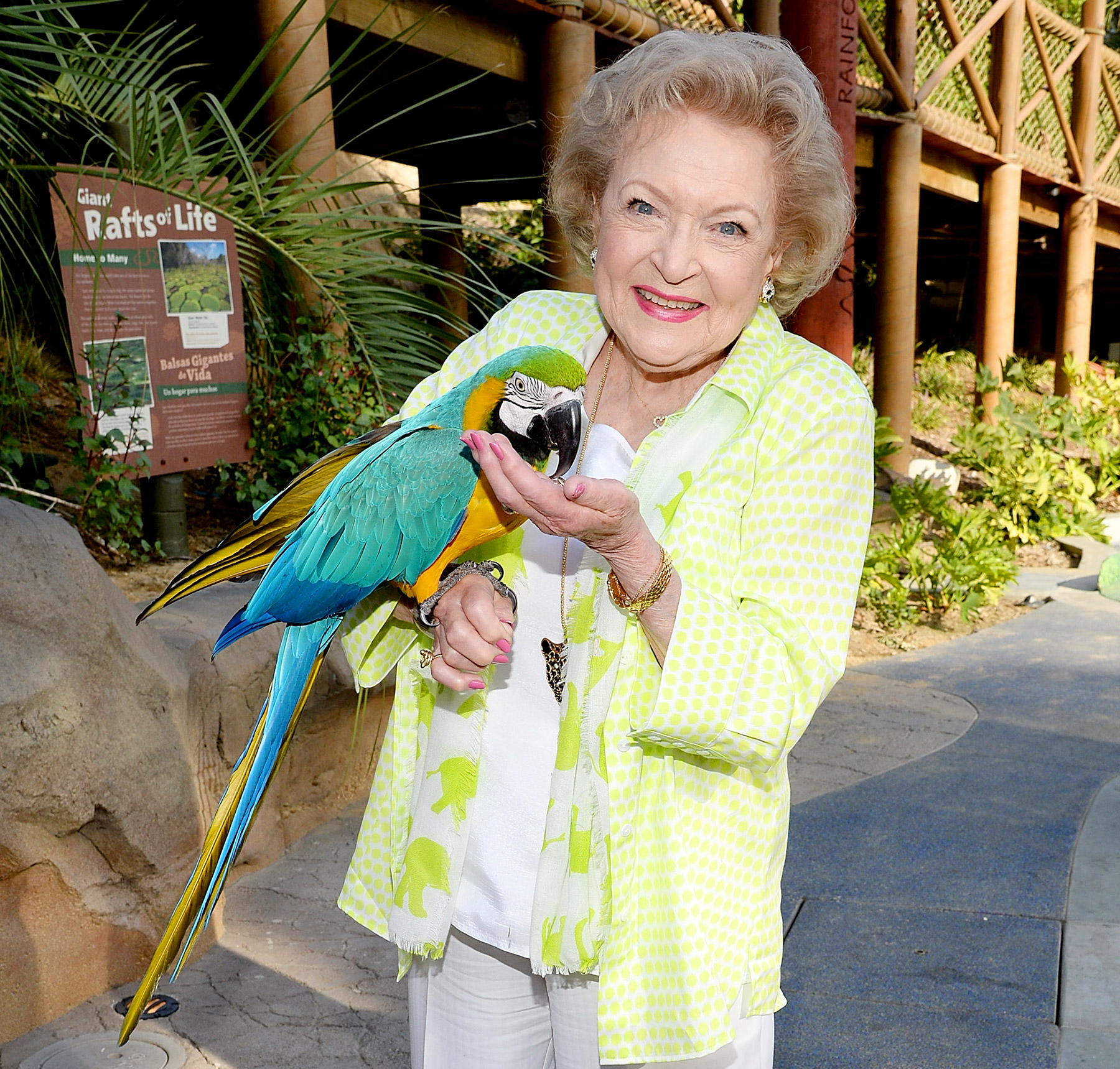 The longtime animal rights activist has been on the Board of Directors at the Los Angeles Zoo since 1974. She also wrote the books Betty White's Pet-Love: How Pets Take Care of Us and Betty & Friends: My Life at the Zoo.