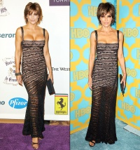 Lisa Rinna wears the same dress 10 years later on Jan. 11, 2015.