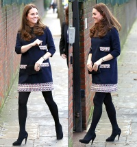 Kate Middleton at Barlby Primary School on Jan. 15, 2015.