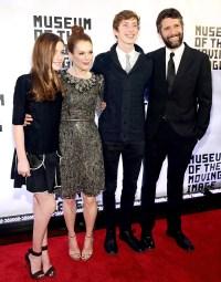 Liv, Julianne Moore, Caleb and Bart Freundlich on January 20, 2015.