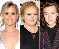 Jennifer Lawrence, Adele, Harry Styles