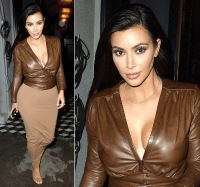 Kim Kardashian leaves dinner at Craig's in L.A. on January 26, 2015.