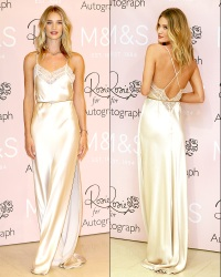 Rosie Huntington-Whiteley at a photocall to launch her new fragrance
