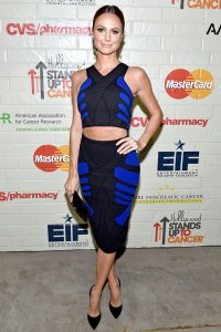 Stacy Keibler at Hollywood Stands Up To Cancer event on Jan. 28, 2015.