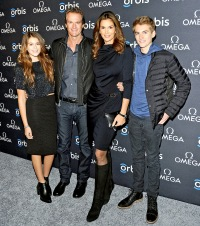 Kaia Gerber, Rande Gerber, Cindy Crawford and Presley Gerber on Feb. 5