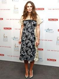 Keira Knightley at the pre-BAFTA private reception on Feb. 5, 2015.