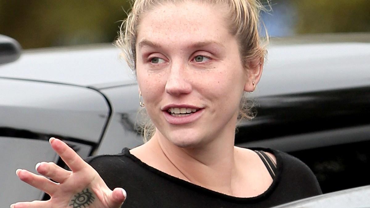 Kesha Goes Without Makeup Dons Sweats While Smiling Photo - Kesha-no-makeup