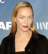"Uma Thurman at ""The Slap"" premiere party at The New Museum on Feb. 9"