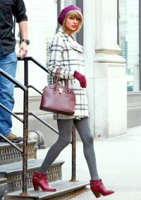 Taylor Swift is seen on December 19, 2014 in NYC.