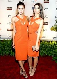 Sara Sampaio and Emily Ratajkowski at the Sports Illustrated event