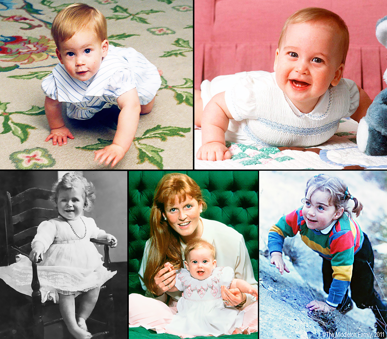 Take a look back at members of the royal family — as babies!
