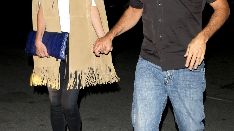 Amal and George Clooney have dinner in L.A. on February 15, 2015.