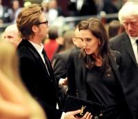 Brad Pitt and Angelina Jolie on February 15, 2015.