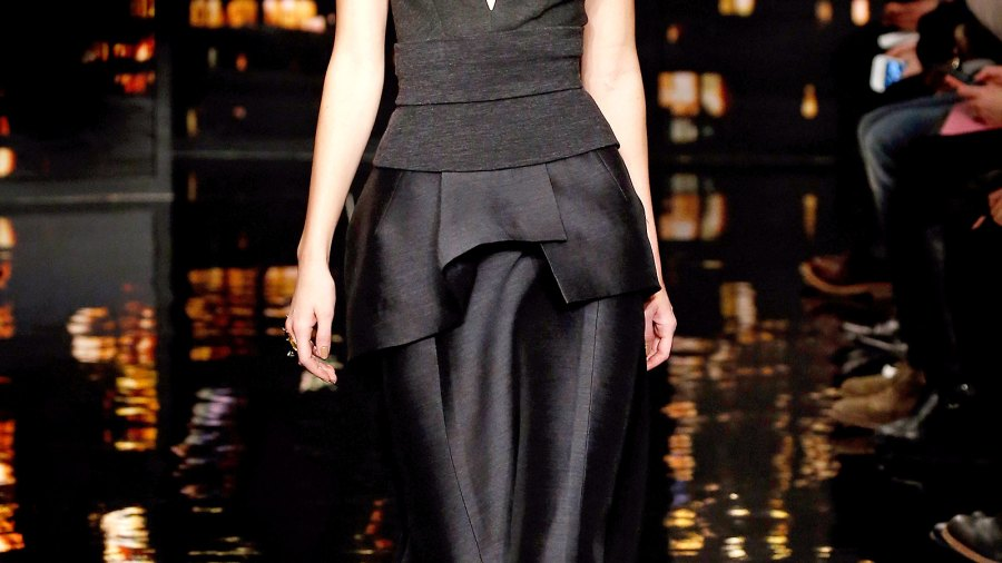 Kendall Jenner on the runway at the Donna Karan New York fashion show.