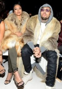 Karrueche Tran and Chris Brown at New York Fashion Week on Feb. 16
