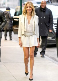 Kristin Cavallari steps out in style in NYC on Feb. 14, 2015.