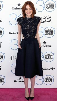 Emma Stone at the 2015 Independent Spirit Awards