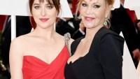 Dakota Johnson and Melanie Griffith at the 2015 Oscars