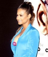 Christina Milian at the Focus premiere on February 24, 2015.