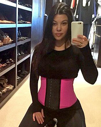 Kourtney Kardashian Shows Post Baby Body While Waist