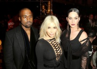 Kanye West, Kim Kardashian and Katy Perry at Givenchy on March 8, 2015