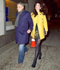 George Clooney and Amal Clooney are seen March 7, 2015 in NYC.
