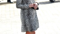 Kate Middleton recycled a striking dalmatian print Hobbs coat at her a