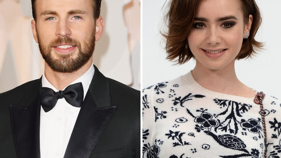 Chris Evans and Lily Collins