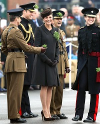 Kate Middleton at the St. Patrick's Day Parade on March 17, 2015.