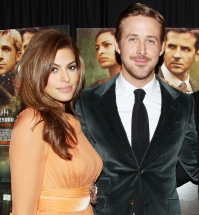 Eva Mendes and Ryan Gosling in 2013