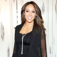 Melissa Gorga shows off her jewelry line on March 3, 2015.