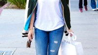 Hilary Duff goes shopping in Beverly Hills on March 24, 2015.