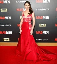 Janie Bryan at Mad Men's 'The Black & Red Ball' on March 25, 2015.