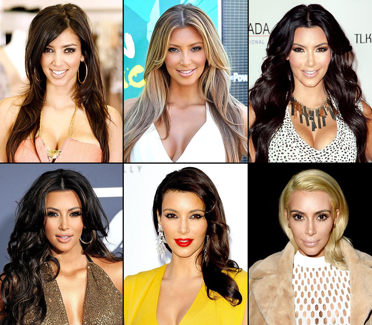 the hair evolution of kim kardashian over the-allure