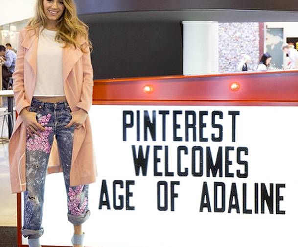 Blake Lively on boyfriend jeans at a Pinterest event for her new movie