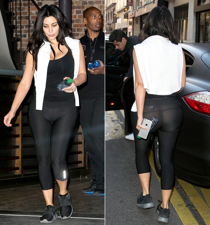 Ass transparent leggings See Through