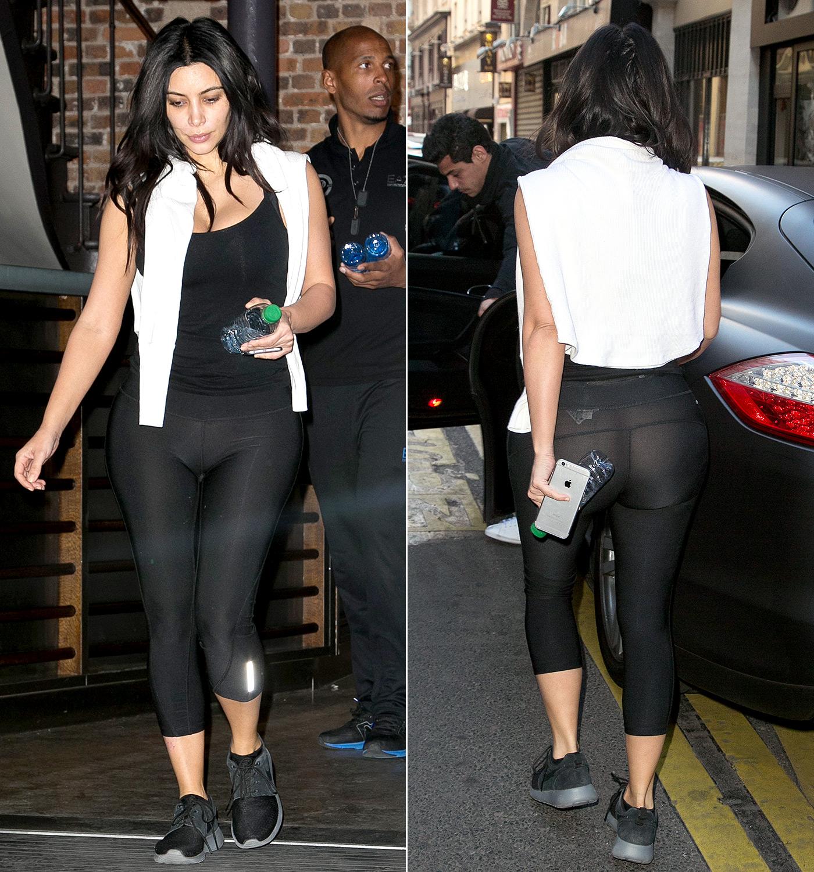 through leggings see Kardashian