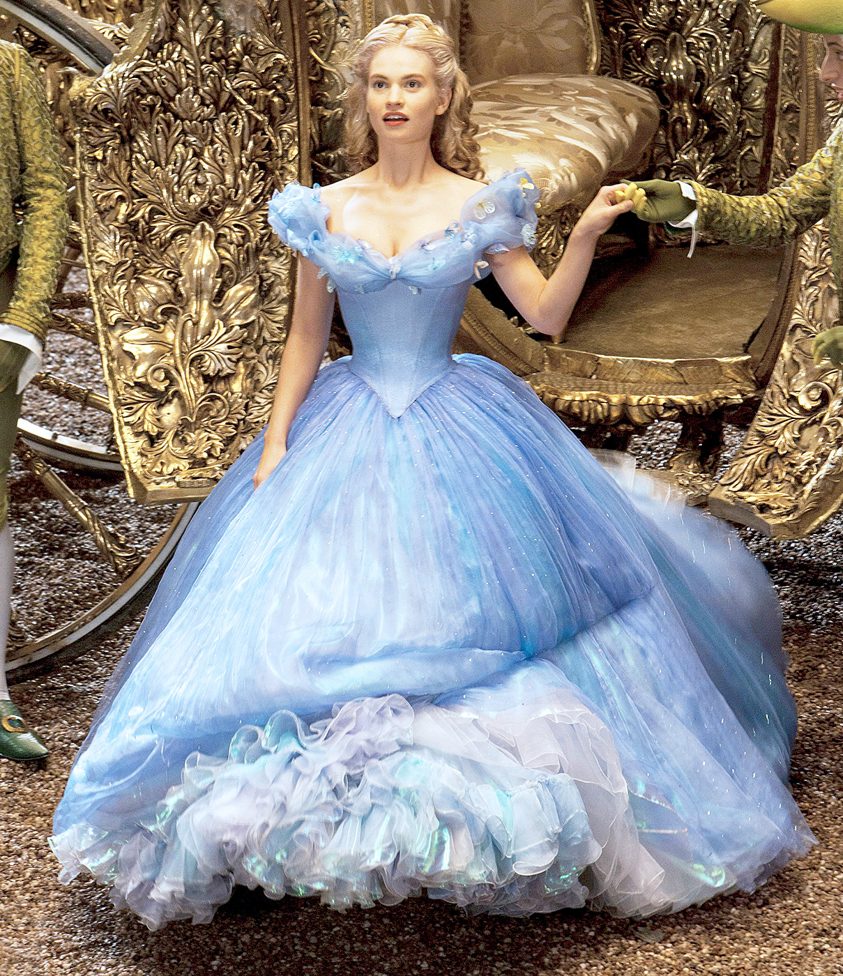 For the 2015 live-action Disney remake of Cinderella , the Downton Abbey star slipped into the famous glass slippers.