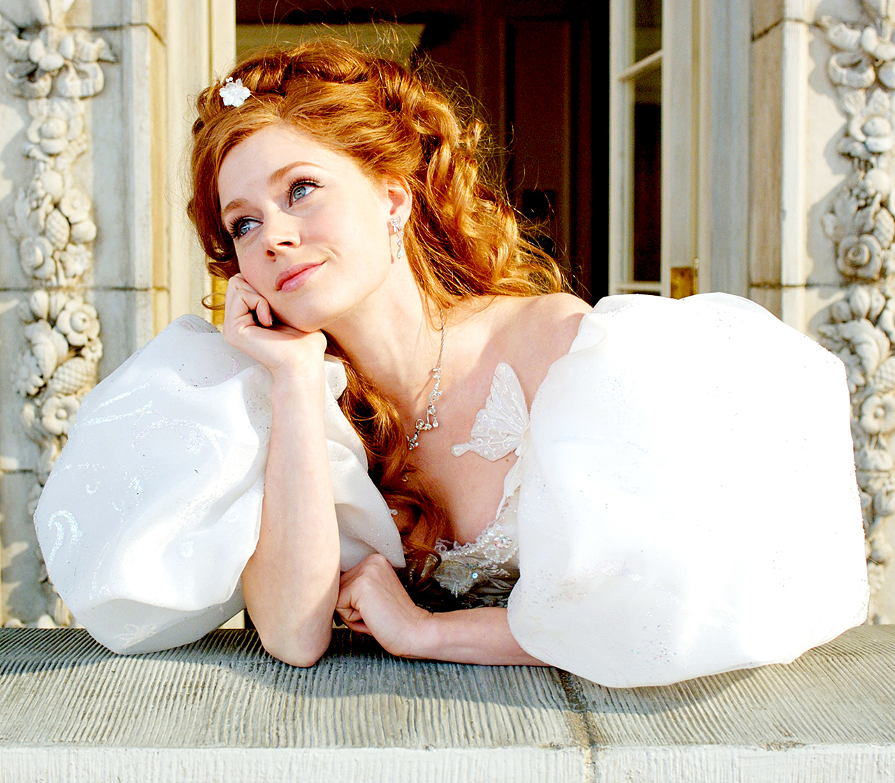 Adams played Giselle in 2007's Enchanted . The Disney film — which combined animation with live-action sequences — costarred Patrick Dempsey , James Marsden , and Susan Sarandon .