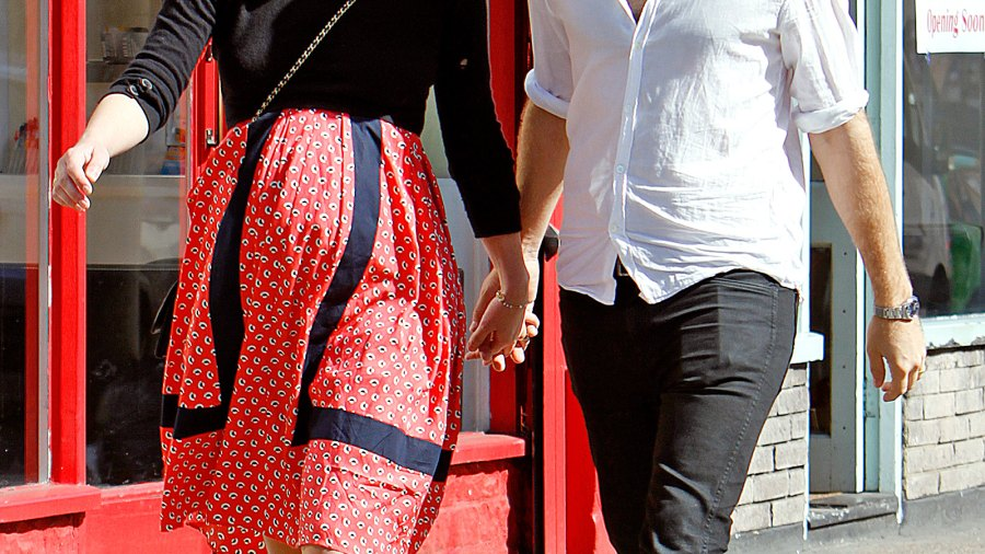 Pregnant Keira Knightley and James Righton go for a walk in London.