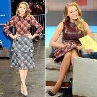 """Blake Lively is seen at """"Good Morning America"""" on April 21, 2015."""