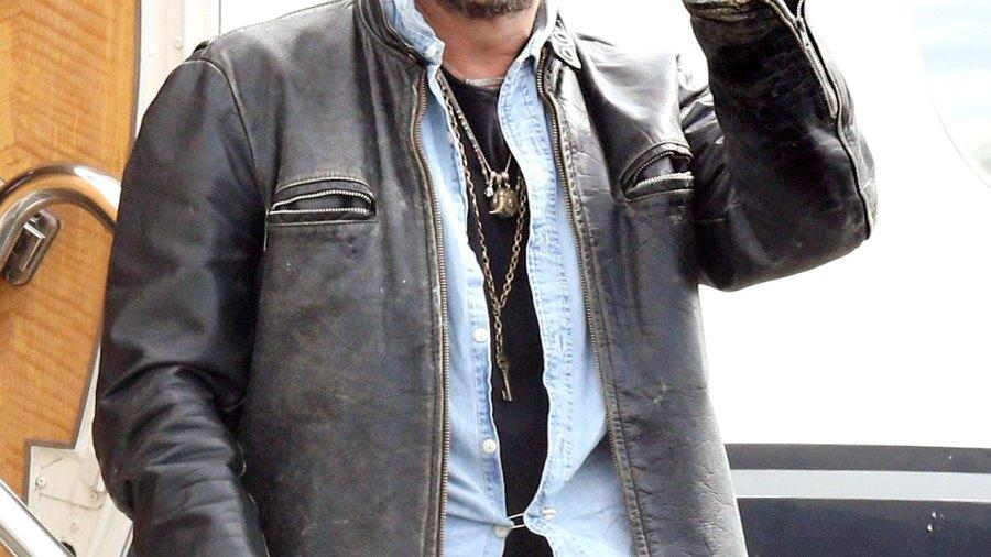 Johnny Depp arrives at Brisbane Airport, Australia on April 21, 2015.