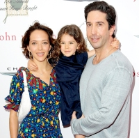David Schwimmer, wife, and daughter