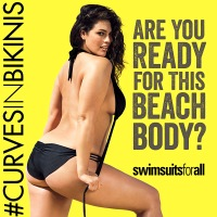 Ashley Graham poses in a bikini for swimsuitsforall