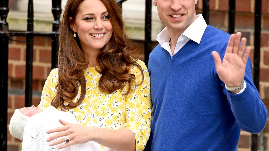 Kate Middleton and Prince William exit the Lindo Wing on May 2, 2015.