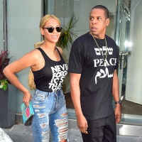 Beyonce and Jay Z are seen in Midtown on May 11, 2015 in New York City