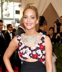 Jennifer Lawrence in Dior at the 2015 Met Gala on May 4 in NYC.